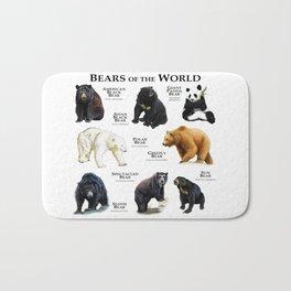 Bears of the World Bath Mat