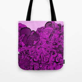 Squirrels Zentangle Drawing Pink Tote Bag