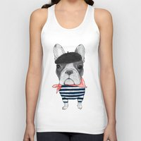 french Tank Tops featuring French Bulldog. by Barruf