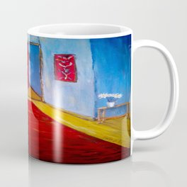 Down the Blue Passage with Flowers Coffee Mug