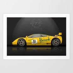 1995 McLaren F1 GTR Le Mans - Harrods Livery #06R  Art Print