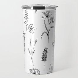 Patagonian wildflowers white Travel Mug