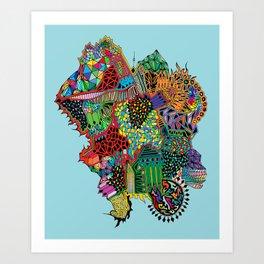 Crystalised Colour Art Print