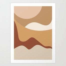 MOUNTAIN DREAMS - beautiful abstract art Art Print