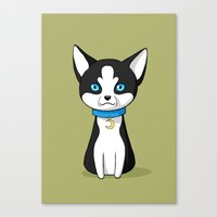 husky Canvas Prints featuring Husky by Freeminds