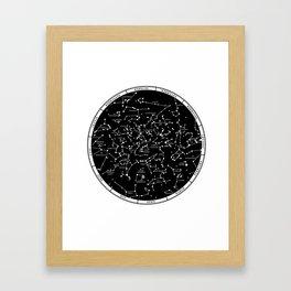 Star Map  Framed Art Print