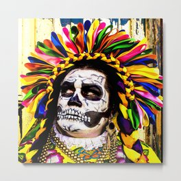 """Celebrating """"Day of the Dead"""" in New Mexico Metal Print"""