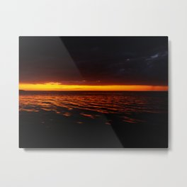 Caye Caulker Sunset Metal Print