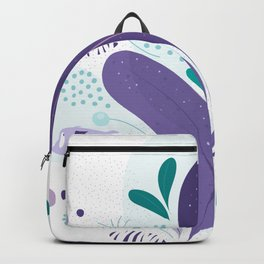 Violet Fishes in the sea Backpack