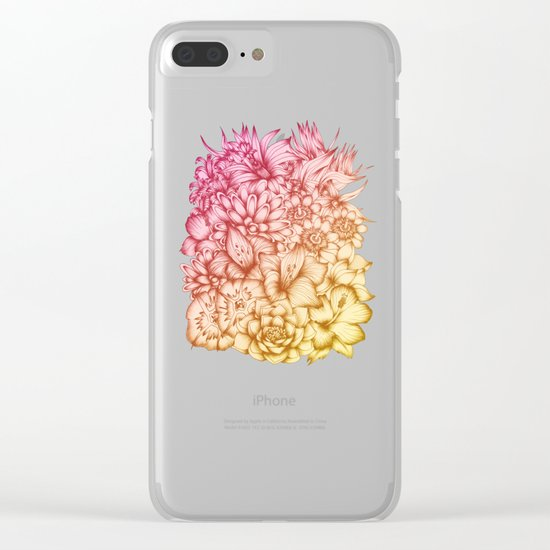 Tropical Flowers II Clear iPhone Case