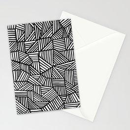 Black Brushstrokes Stationery Cards