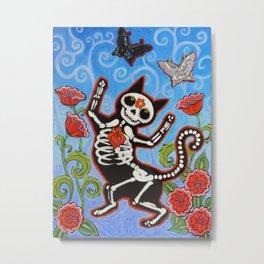 Gato de Los Muertos Metal Print