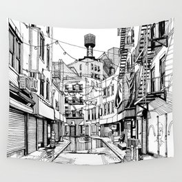Concrete Jungle (BW) Wall Tapestry