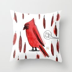 Hey, Red! Throw Pillow