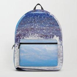 Wave Crashing onto the Beach Backpack
