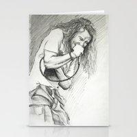 eddie vedder Stationery Cards featuring Eddie Vedder Sketch by Taylor Hayes