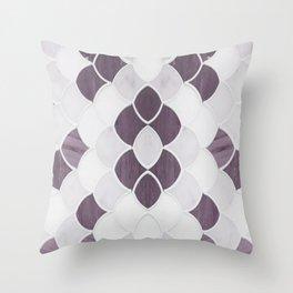 Moroccan Scalloped Flower Plum Throw Pillow