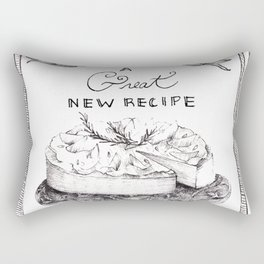 A great new recipe in my repertoire. By Sarah Clement Rectangular Pillow