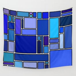 50 shades of blue Wall Tapestry