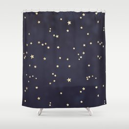 Gold Stars Shower Curtain