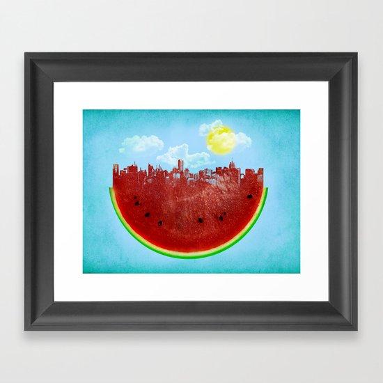 Watermelon City Framed Art Print