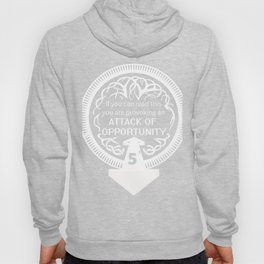 Attack of Opportunity Role Playing Games Gift Tabletop Gamer Print Hoody