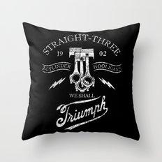 STRAIGHT 3 Throw Pillow