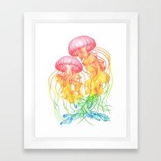 Rainbow Jellyfish Framed Art Print