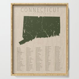 Connecticut Parks Serving Tray