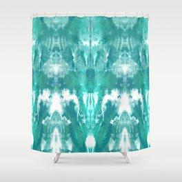 Aqua Blue Lagoon Shower Curtain