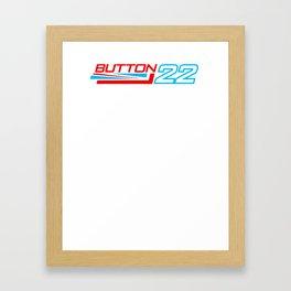 Jenson Button 22 Formula 1 Motor Racing Framed Art Print