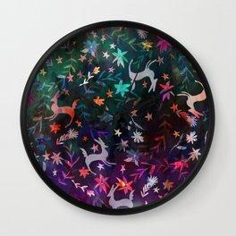Watercolour folk otomi II Wall Clock