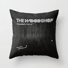 Back Ebony Throw Pillow