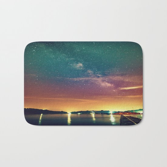 Milky Way Colorful Sunset Bath Mat