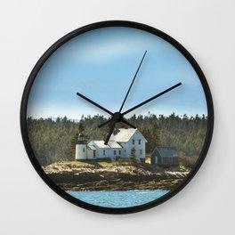 Lighthouse Island - Maine Wall Clock