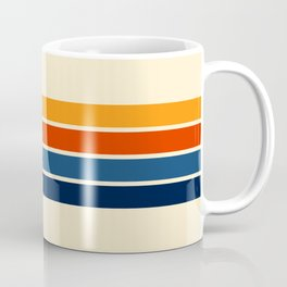 Classic Retro Stripes Kaffeebecher