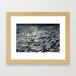 Sand or Snow? Framed Art Print