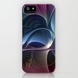 Fractal Mysterious, Colorful Abstract Art iPhone Case