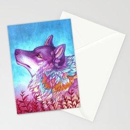 rainbow wolf Stationery Cards
