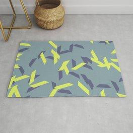 random trapezoids pattern_pigeon Rug