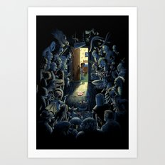 Be Afraid of the Dark Art Print