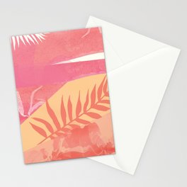 Pink Marble Palm Stationery Cards