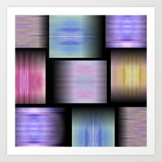 Pattern Elements Art Print