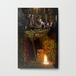 Un Chat dans la Fête Foraine (XII) // A Cat in the Carnival (XII) Metal Print