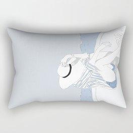 Blue Stripes & Boats Fashion Girl Rectangular Pillow