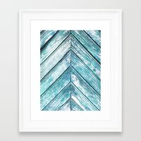 wooden Framed Art Prints featuring WOODEN by Sorbetedelimon