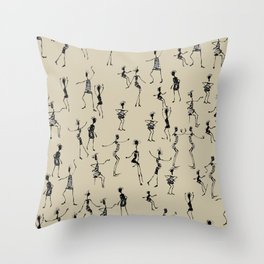stick people in action Throw Pillow