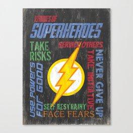 Virtues of A Superhero 1 Canvas Print