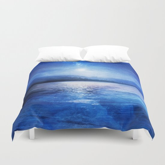 Our secret blue space Duvet Cover