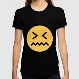 Smiley Face   Squeezing Look   Annoyed Face T-shirt